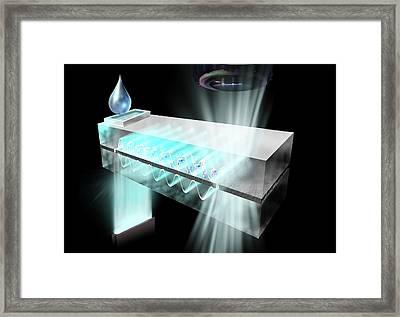 Biosensor Chip Framed Print by Nicolle R. Fuller