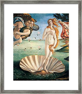 Birth Of Venus Framed Print by Sandro Botticelli
