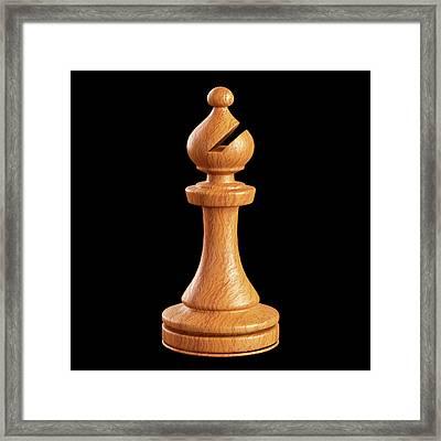 Bishop Chess Piece Framed Print by Ktsdesign