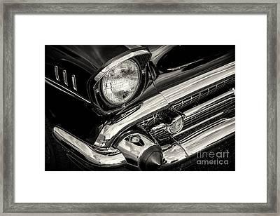 Black '57 Framed Print by Dennis Hedberg