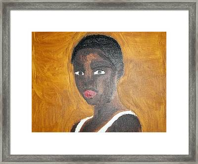 Black African American Woman Of 2013 Framed Print by William Sahir House
