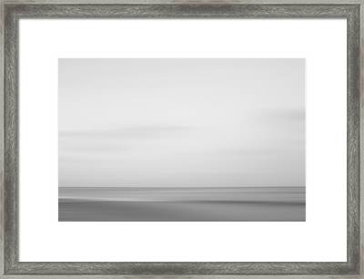 Black And White Abstract Seascape No. 01 Framed Print