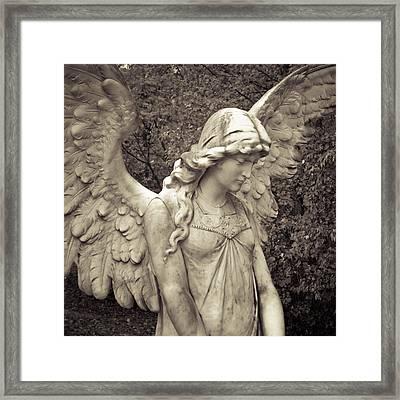 Black And White Angel Framed Print by Patsy Zedar