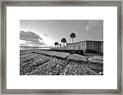 Black And White Castillo De San Marcos View 5 Framed Print