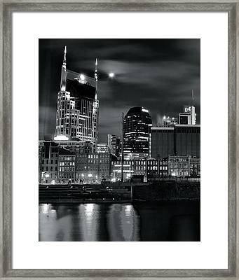 Black And White Nashville Framed Print