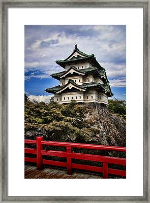 Hirosaki Castle In Japan Framed Print by David Smith