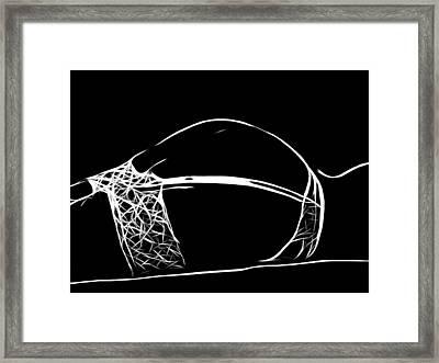 Black And White Pleasure Framed Print by Steve K