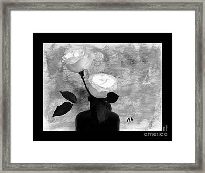 Black And White Rose Framed Print by Marsha Heiken
