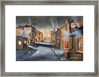 Black Country Village From The Boat Yard Framed Print