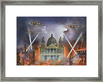 Spirit Of The Blitz Framed Print