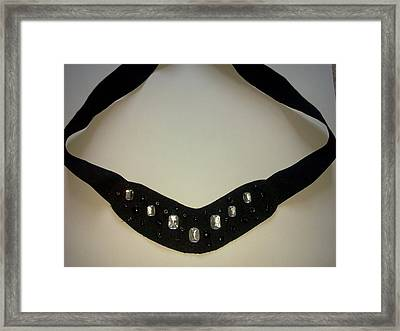 Black Glamour Framed Print by Karen Jensen