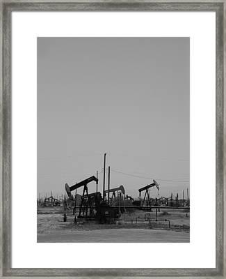 Black Gold Framed Print