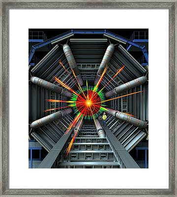 Black Hole Simulation On Lhc Framed Print by David Parker