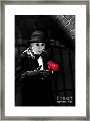 Black Magician With Surprise Gift Framed Print by Jorgo Photography - Wall Art Gallery