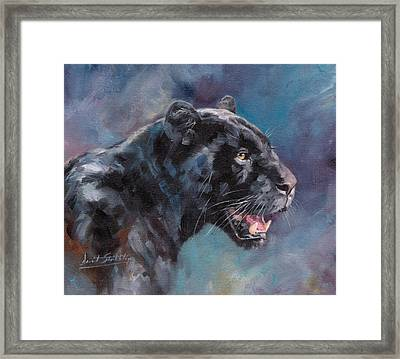 Black Panther Framed Print by David Stribbling
