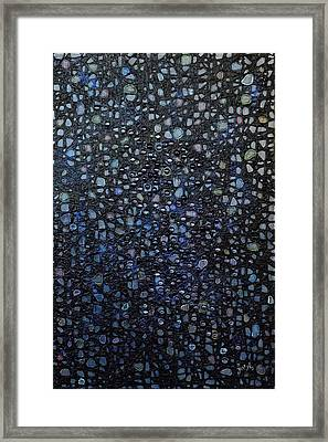 Black Rain Framed Print by Donna Blackhall