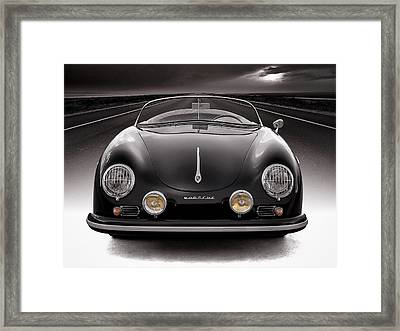 Black Speedster Framed Print