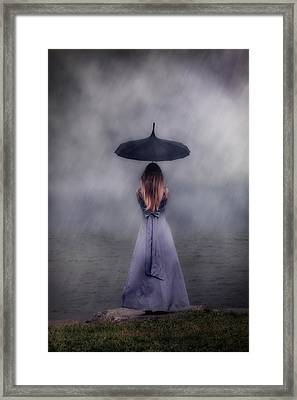 Black Umbrella Framed Print by Joana Kruse