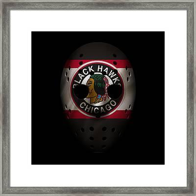 Blackhawks Jersey Mask Framed Print