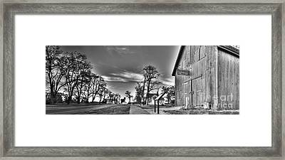 Blacksmith Shop In Black And White Framed Print by Twenty Two North Photography