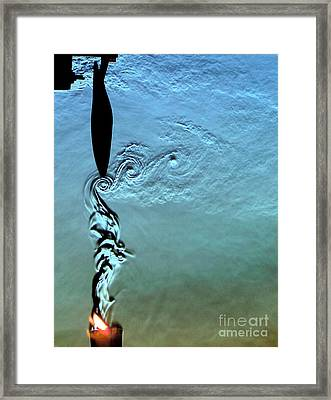 Blade Tip Vortices Of Electric Fan Framed Print by Gary S. Settles & Jason Listak
