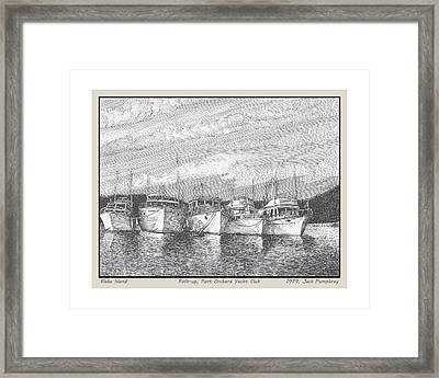 Northwest Raft Up Framed Print