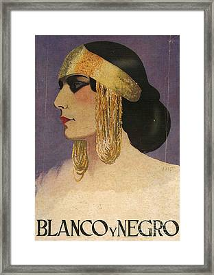 Blanco Y Negro  1929 1920s Spain Cc Framed Print by The Advertising Archives