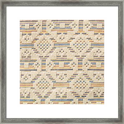Blanket Detail Framed Print
