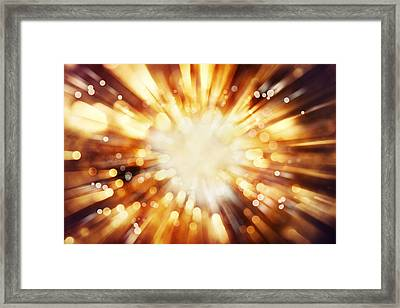 Blast Background  Framed Print by Les Cunliffe