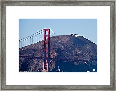 Blasting By The Golden Gate Framed Print by Brian Williamson