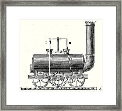 Blenkinsops Toothed Rack Locomotive Framed Print