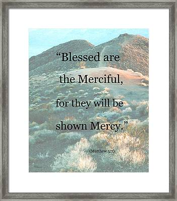 Blessed Are The Merciful Framed Print by Patricia Januszkiewicz