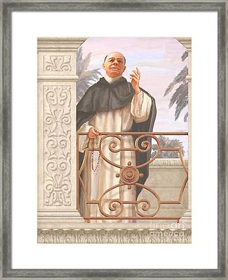 Blessed Father Lucas Framed Print by John Alan  Warford