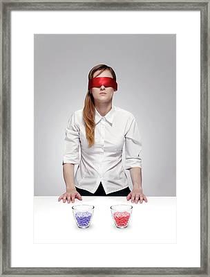 Blind Drug Trial Framed Print by Victor De Schwanberg