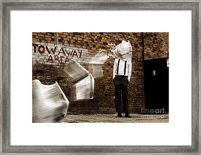 Blinded By The News Headlines Framed Print by Jorgo Photography - Wall Art Gallery