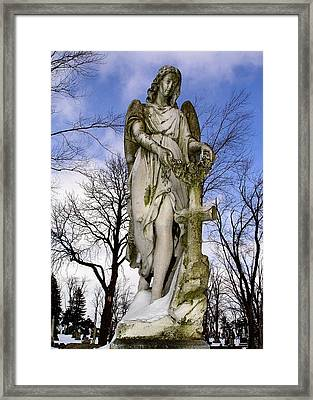 Blissful Angel Framed Print by Gothicrow Images