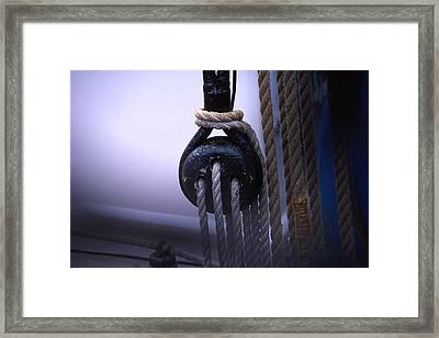 Block And Tackle Framed Print by Barry Shaffer