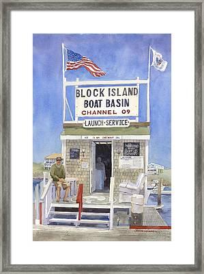 Block Island Boat Basin Framed Print