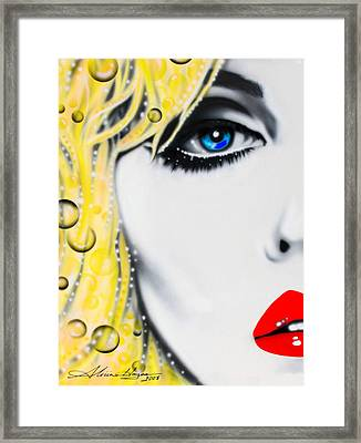 Blondie Framed Print by Alicia Hayes