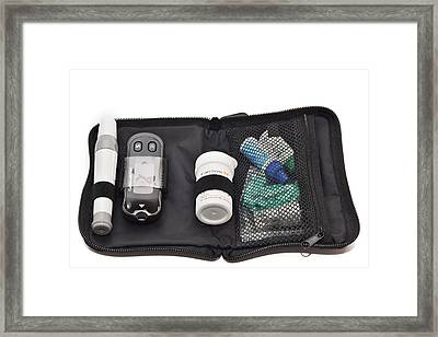 Blood Glucose Monitor Kit Framed Print by Dr P. Marazzi