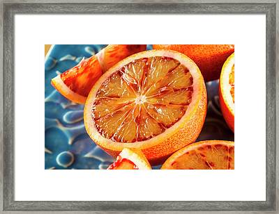 Blood Orange Framed Print by Aberration Films Ltd