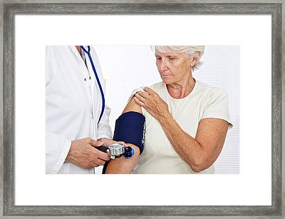 Blood Pressure Framed Print by Lea Paterson