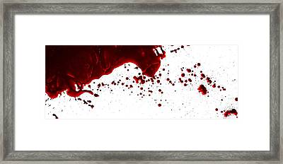 Blood Spatter Series Framed Print
