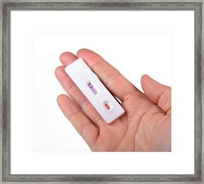 Blood Test Cassette Framed Print