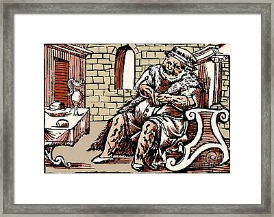 Bloodletting For Weight Reduction Framed Print by Science Source