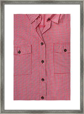 Blouse Front Framed Print by Tom Gowanlock