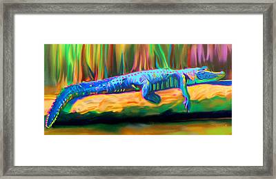 Blue Alligator Framed Print