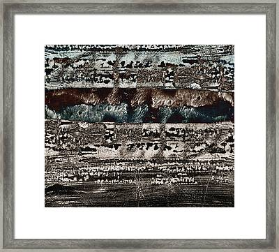 Blue And Black Textures Framed Print by Carol Leigh