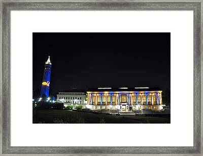 Blue And Gold Campus Framed Print