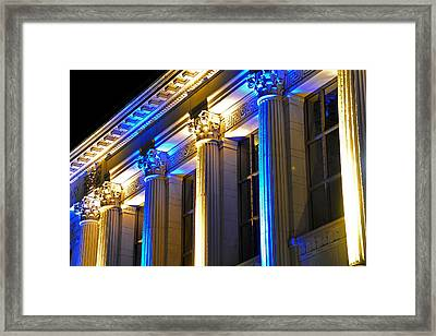 Blue And Gold Doe Library Framed Print